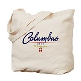 Columbus Script Tote Bag