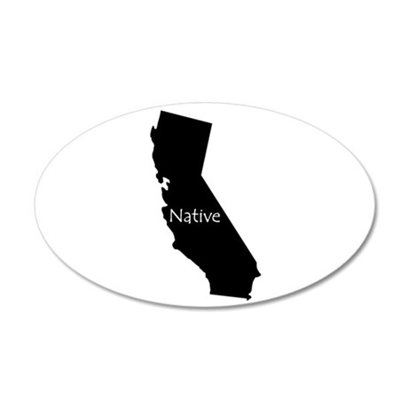 California Native 38.5 x 24.5 Oval Wall Peel