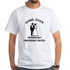 Game Over (Names and Wedding Date) Shirt