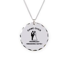 Game Over (Names and Wedding Date) Necklace