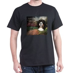 """Why God Made Dogs"" Bernese Dark T-Shirt"
