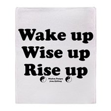 Wake Up 2 Throw Blanket