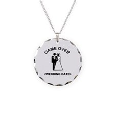 Game Over (Type In Your Wedding Date) Necklace Cir
