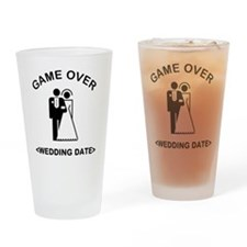 Game Over (Type In Your Wedding Date) Drinking Gla