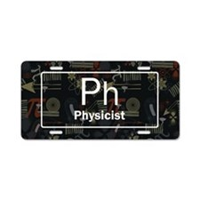 Physicist Retro Aluminum License Plate