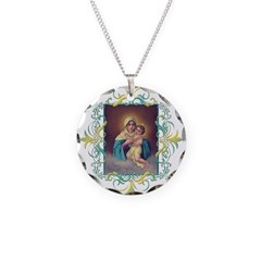 MTA - Our Lady of Schoenstatt Necklace Circle Char