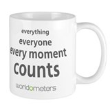 Every moment counts  Tasse by Worldometers