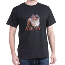 Sheltie Agility Black T-Shirt