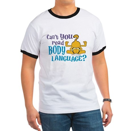 Body Language Garfield Ringer T