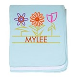 Mylee with cute flowers baby blanket