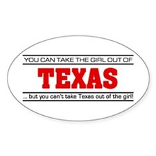 'Girl From Texas' Decal