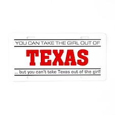 'Girl From Texas' Aluminum License Plate
