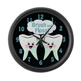 Cute Dentist Dental Hygienist Large Wall Clock