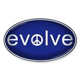 Evolve with Peace - Bumper Stickers