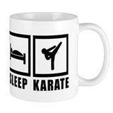 Eat Sleep Karate Small Mug