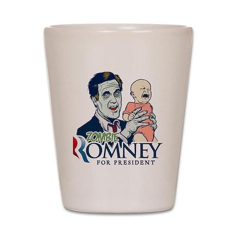 Zombie Romney Shot Glass