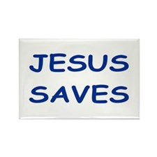 Cute Jesus saves Rectangle Magnet