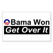Obama Won Get Over It Decal