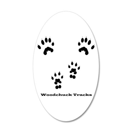 Woodchuck Tracks 20x12 Oval Wall Decal
