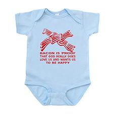 Bacon God Does Love Us Infant Bodysuit
