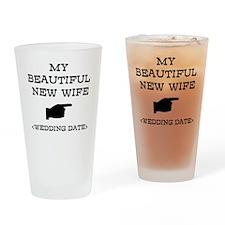 New Wife (Wedding Date) Drinking Glass
