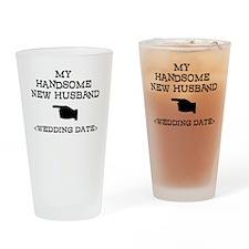 New Husband (Wedding Date) Drinking Glass