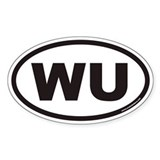 WU Euro Oval Decal