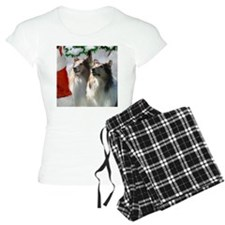 Rough Collie Christmas Pajamas
