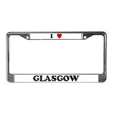I Love Glasgow License Plate Frame