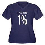 I am the one percent Women's Plus Size V-Neck Dark