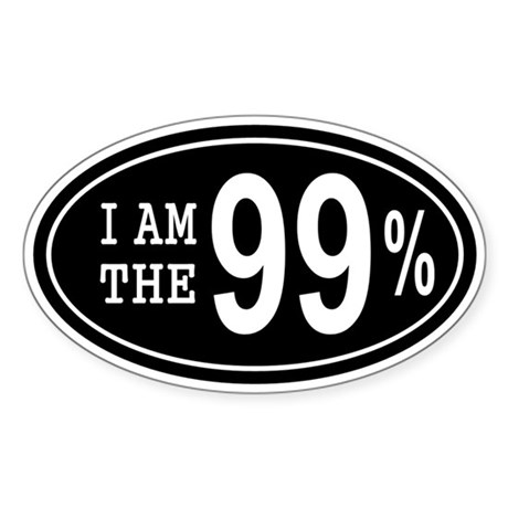 I am the 99 Percent Sticker (Oval)