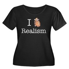 I heart realism Women's Plus Size Scoop Neck Dark