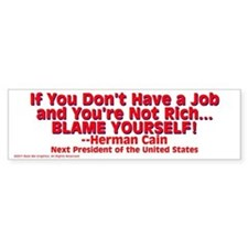 $4.99 Blame Yourself! Bumper Bumper Sticker