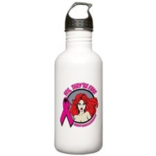 Yes Fake Breast Cancer Water Bottle