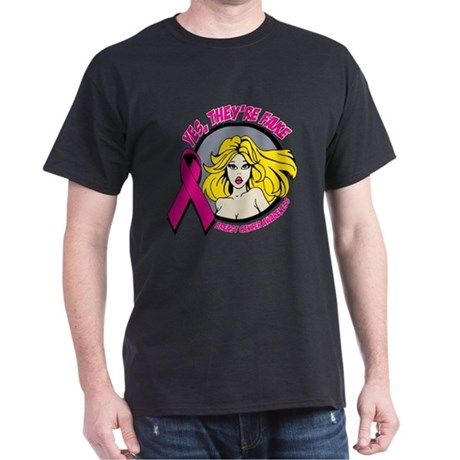 Blonde Girl Fake Breast Cancer Dark T-Shirt