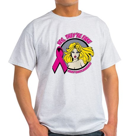 Blonde Girl Fake Breast Cancer Light T-Shirt