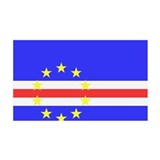 Cape Verde Flag 38.5 x 24.5 Wall Peel