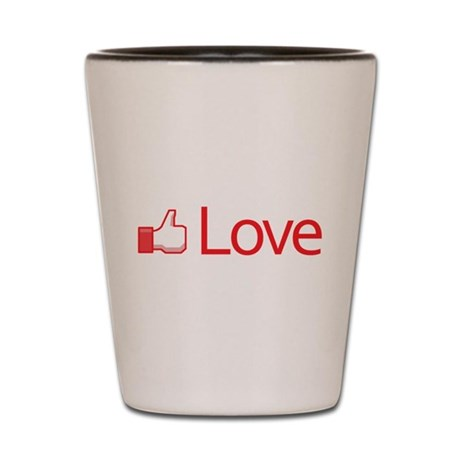 Love Button Shot Glass