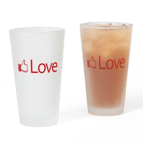Love Button Drinking Glass
