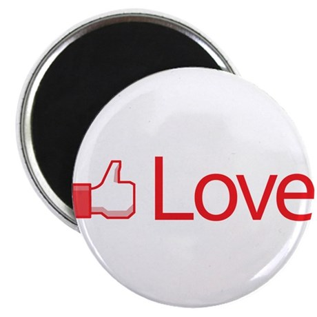 Love Button Round Magnet