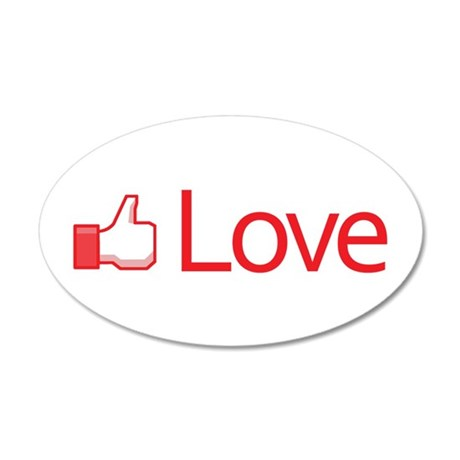 Love Button 22x14 Oval Wall Peel