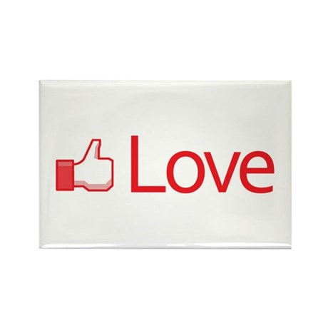 Love Button Rectangle Magnets ~ Pack of 100