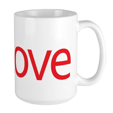 Love Button Large Coffee Mug