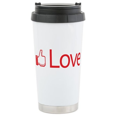Love Button Ceramic Travel Mug