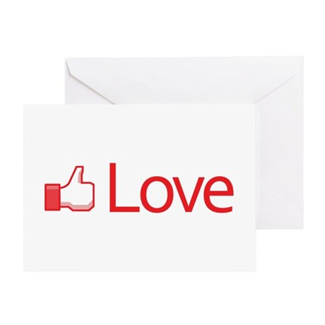 Love Button Greeting Card