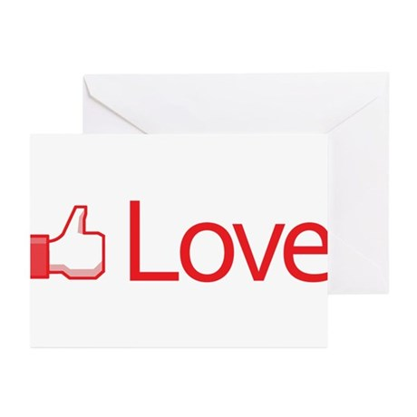 Love Button Greeting Cards ~ Package of 20