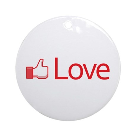 Love Button Round Ornament