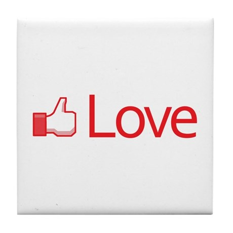 Love Button Tile Coaster