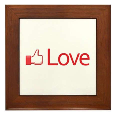 Love Button Framed Tile