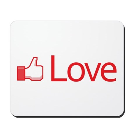 Love Button Mousepad
